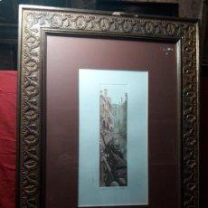Arte: XILOGRAFIA VENECIA SERIE 17 DE 80 FIRMADA.. Lote 142442290
