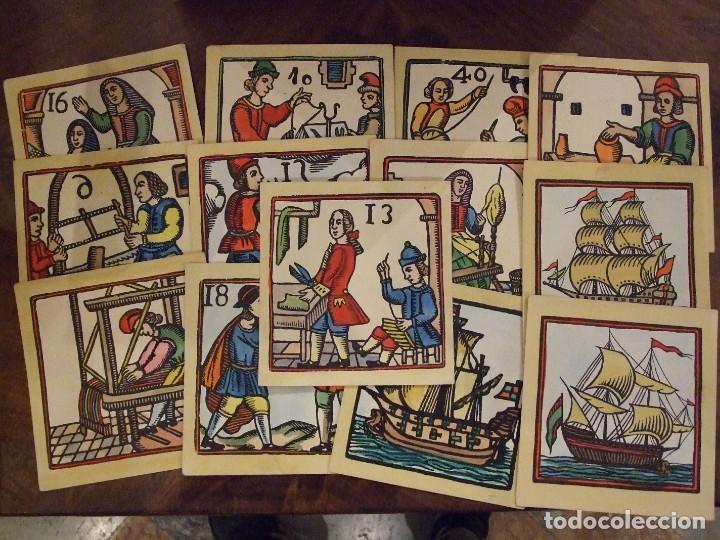 COLECCION DE XILOGRAFIAS TINELL BARCELONA COLOREADAS A MANO - 13 UNIDADES 12X12 CM BUEN ESTADO (Arte - Xilografía)