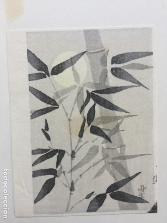 Arte: interesante grabado japonés firmado by B. ASADA - Foto 2 - 44945131