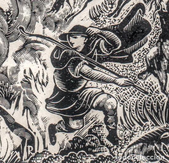 XILOGRAFÍA ORIGINAL DE ENRIC C RICART NIN. INÉDITA. L'ATLANTIDA. 1952 (Arte - Xilografía)