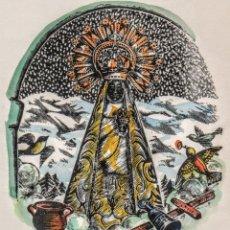 Arte: XILOGRAFÍA ORIGINAL DE LA VIRGEN DE NURIA DE E. C RICART. QUERALBS VALLE DE LOS PIRINEOS GERONA. Lote 147356642