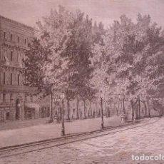 Arte: BARCELONA PLAZA DEL TEATRO . AÑO 1880. Lote 147429682