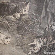 Arte: NIÑOS JUGANDO SPERLING. AÑO 1880. Lote 147429814