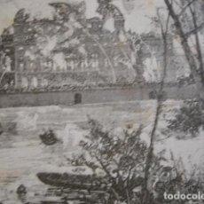 Arte: PRAGA INCENDIO DEL TEATRO . AÑO 1880. Lote 147456362