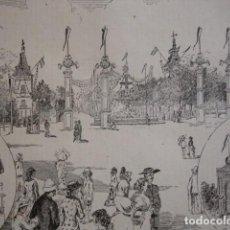 Arte: VALENCIA FERIAS Y FIESTAS PASEO DE LA ALAMEDA . AÑO 1880. Lote 147456518