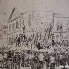 Arte: BARCELONA CATASTROFE FABRICA MORELL Y MURILLO . AÑO 1880. Lote 147460774