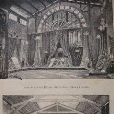 Arte: EXPOSICION EN VILLANUEVA Y GELTRU FERRER Y VIDAL AÑO 1880. Lote 147462418