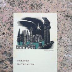 Arte: FELICES FIESTAS TARRAGONA 1971 CONDE DE RIUS XILOGRAFIA J GUAL. Lote 148628250