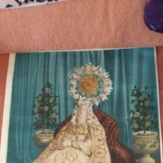Arte: ESTAMPACIÓN EN LIENZO, VIRGEN DEL TRANSITO, ZAMORA AÑOS 50/60. Lote 149255082