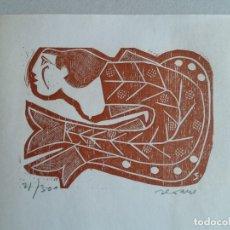 Arte: LUIS SEOANE (BA. 1910-A CORUÑA 1979) XILOGRAFÍA DE 1976 FIRMADA LÁPIZ Y 81/300 PERFECTA! CATALOGADA. Lote 140438624