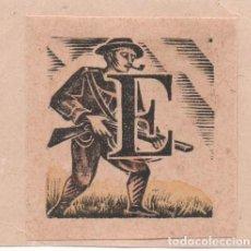 Arte: XILOGRAFÍA ORIGINAL DE E.C:RICART.CABECERA DE LETRA E ILUSTRACIÓN DE TEATRO VENATORIO Y COQUINARIO. Lote 150342974
