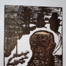 Arte: EXPRESIONISMO: ERICH HECKEL: XILOGRAFÍA EN PAPEL JAPÓN FIRMADA Y NUMERADA-35 EJEMPLARES, 1965. Lote 150462210