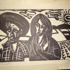 Arte: XILOGRAFIA 1974 FIRMADA POR L. ???? LUIS . Lote 150545306