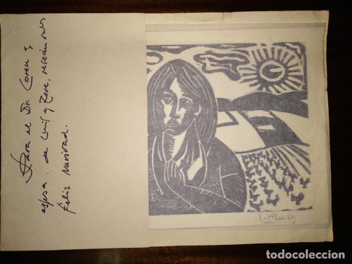 Arte: Xilografia 1974 firmada por l. ???? Luis - Foto 2 - 150545306