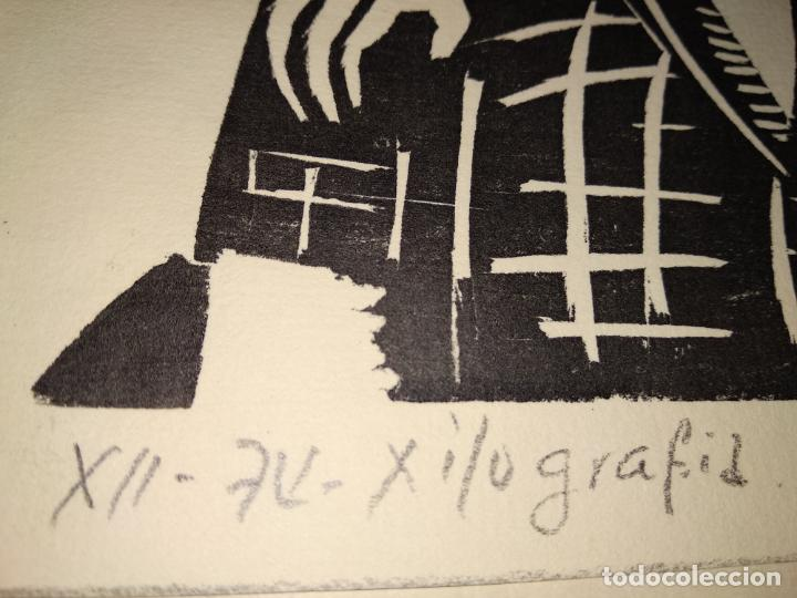 Arte: Xilografia 1974 firmada por l. ???? Luis - Foto 4 - 150545306