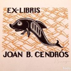 Arte: JOSEP GRANYER - XILOGRAFÍA FIRMADA Y NUMERADA. Lote 152439410