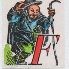 Arte: XILOGRAFÍA ORIGINAL DE ENRIC C RICART. CABECERA DE LETRA/ CAPLLETRA F COLOREADA. 1955. Lote 153322938