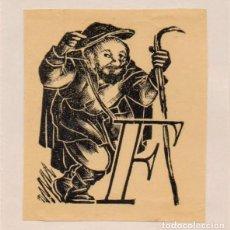 Arte: XILOGRAFÍA ORIGINAL DE ENRIC C RICART. CABECERA DE LETRA/ CAPLLETRA F. 1955. Lote 153324922