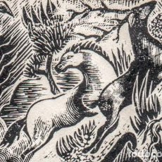 Arte: XILOGRAFÍA ORIGINAL DE E. C. RICART. INEDITA. CREADA PARA ILUSTRAR UN POEMA DE MN. JACINTO VERDAGUER. Lote 155551982