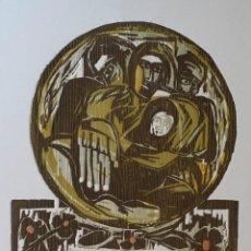 Arte: ISMAEL COBAN: XILOGRAFÍA FIRMADA Y NUMERADA CON GOFRADO, 1983. Lote 158378450