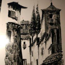 Arte: GRANADA CALLE DEL ALBAICIN FIRMADA ROMERO. Lote 158606488