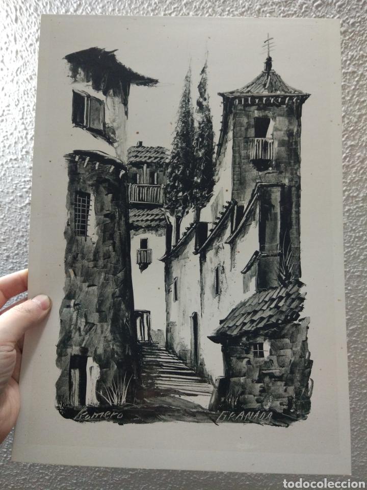 Arte: GRANADA CALLE DEL ALBAICIN FIRMADA ROMERO - Foto 2 - 158606488
