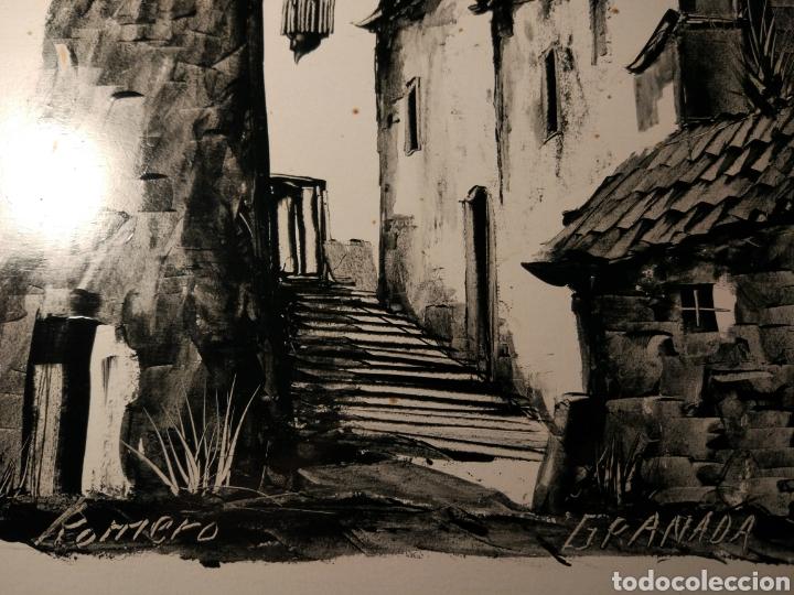 Arte: GRANADA CALLE DEL ALBAICIN FIRMADA ROMERO - Foto 3 - 158606488
