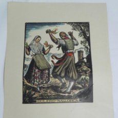 Arte: BOLERO, MALLORCA, XILOGRAFIA, DE JOAN CASTELLS I MARTÍ (1906 – 1980), FIRMADA, MIDE 35 X 28 CMS. APR. Lote 159331854