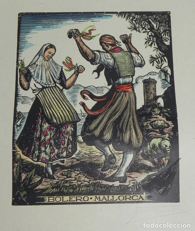 Arte: BOLERO, MALLORCA, XILOGRAFIA, DE JOAN CASTELLS i MARTÍ (1906 – 1980), FIRMADA, MIDE 35 X 28 CMS. APR - Foto 2 - 159331854