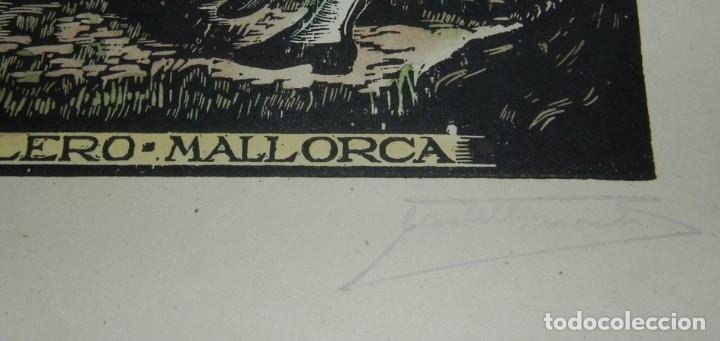 Arte: BOLERO, MALLORCA, XILOGRAFIA, DE JOAN CASTELLS i MARTÍ (1906 – 1980), FIRMADA, MIDE 35 X 28 CMS. APR - Foto 3 - 159331854