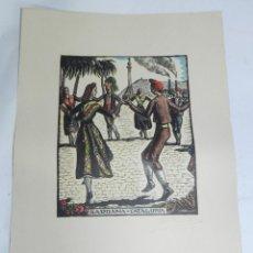 Arte: SARDANA, CATALUÑA, XILOGRAFIA, DE JOAN CASTELLS I MARTÍ (1906 – 1980), FIRMADA, MIDE 35 X 28 CMS. AP. Lote 159331926