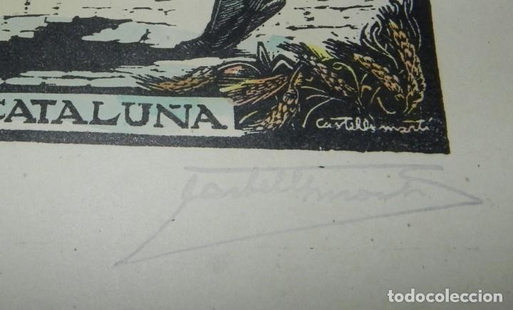 Arte: SARDANA, CATALUÑA, XILOGRAFIA, DE JOAN CASTELLS i MARTÍ (1906 – 1980), FIRMADA, MIDE 35 X 28 CMS. AP - Foto 3 - 159331926