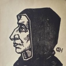 Arte: GEORG HILGERS: SAVONAROLA, XILOGRAFÍA DE 1925. Lote 160709066