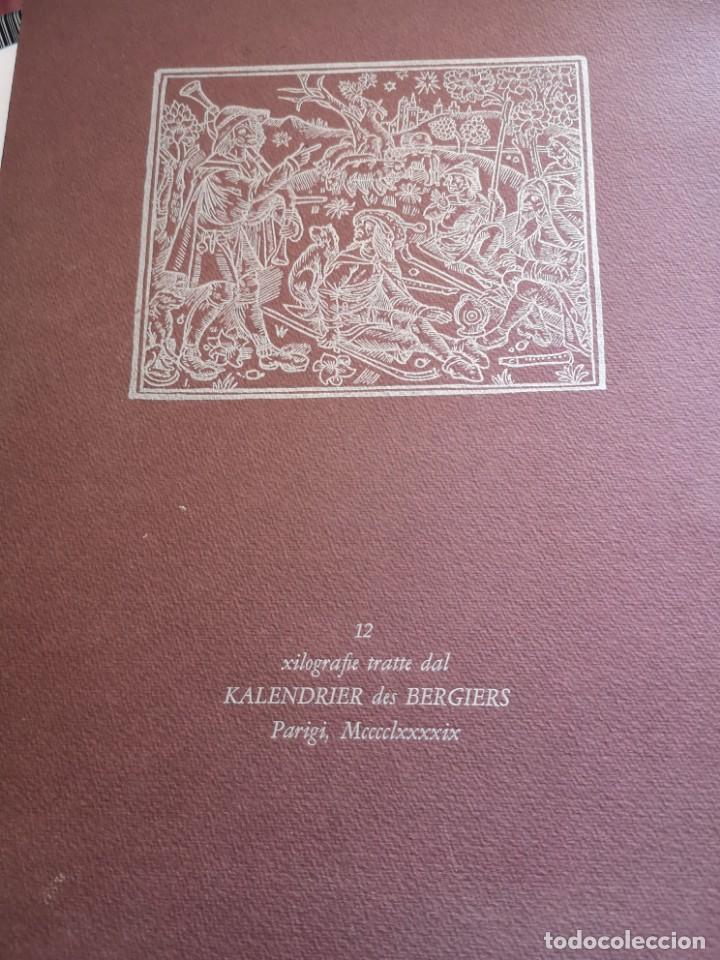 12 XILOGRAFIE TRATE DAL KALENDRIER DES BERGIERS (Arte - Xilografía)