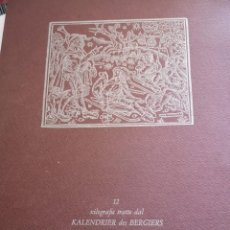 Arte: 12 XILOGRAFIE TRATE DAL KALENDRIER DES BERGIERS. Lote 164136958