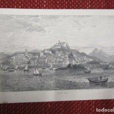 Arte: GRABADO XILOGRAFIA, ' VIGO BAY ', BAHIA DE VIGO - HACIA 1870, DE PUBLICACION INGLESA + 1. Lote 164765818
