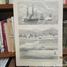 Arte: GRABADO XILOGRAFIA, VILLAGARCIA MANIOBRAS Y EXPLOSION, ILUSTRACION GALLEGO ASTURIANA ? 1880 + 1. Lote 164810910
