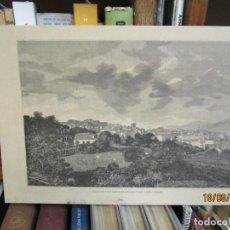 Arte: GRABADO XILOGRAFIA, VIGO DESDE LA ESTACION DE FERROCARRIL, ILUSTRACION GALLEGO ASTURIANA ? 1880 + 1. Lote 164811102