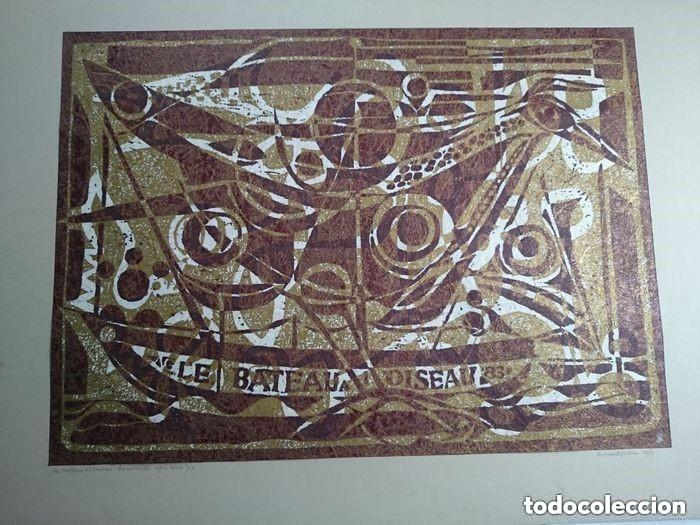 ANTOINETTE GISPEN - LE BATEAU A L'OISEAU (Arte - Xilografía)