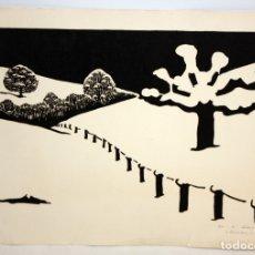 Arte: MARIA JOSEFA COLOM -XILOGRAFIA - LAUSANNE 1967.. Lote 173099319