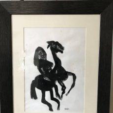 Arte: LAMINA PARECE XILOGRAFIA EXPRESIONISTA FIRMADA POR BURGOS. Lote 173515393