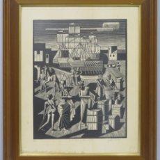 Arte: LAS MIL Y UNA NOCHES. XILOGRAFIA. JULIO CASTRO DE LA GANDARA (CEUTA 1927- MADRID 1983). Lote 173817568
