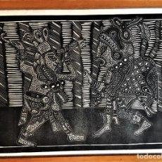 Arte: SALVADOR SANZ FAUS (1918-1997) XILOGRAFIA 40 X 50 .AÑOS 60. Lote 174188748