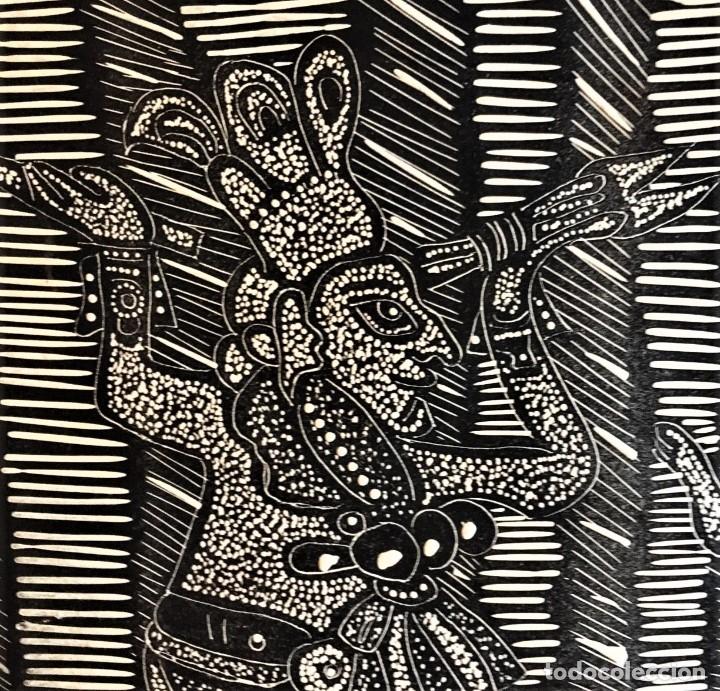 Arte: SALVADOR SANZ FAUS (1918-1997) XILOGRAFIA 40 x 50 .AÑOS 60 - Foto 4 - 174188748