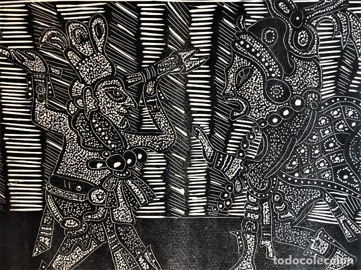 Arte: SALVADOR SANZ FAUS (1918-1997) XILOGRAFIA 40 x 50 .AÑOS 60 - Foto 5 - 174188748