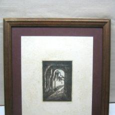 Arte: ANTIGUA XILOGRAFIA MAHON MENORCA - HERNANDEZ MORA - ENMARCADO. Lote 174257522