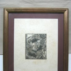 Arte: ANTIGUA XILOGRAFIA TAULA MENORCA - HERNANDEZ MORA ORIGINAL - ENMARCADO. Lote 174263022