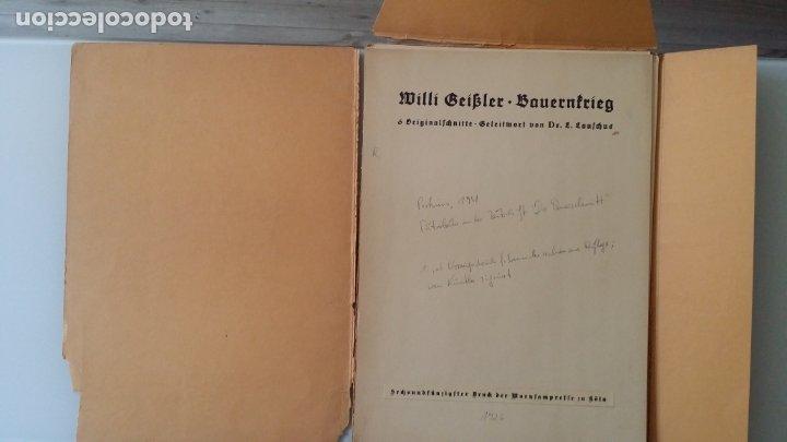 Arte: Willi Geissler La guerra de los campesinos, Portfolio con 6 xilografías , 1926 - Foto 4 - 174461894