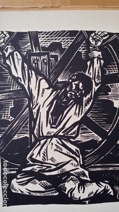 Arte: Willi Geissler La guerra de los campesinos, Portfolio con 6 xilografías , 1926 - Foto 9 - 174461894