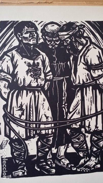 Arte: Willi Geissler La guerra de los campesinos, Portfolio con 6 xilografías , 1926 - Foto 8 - 174461894